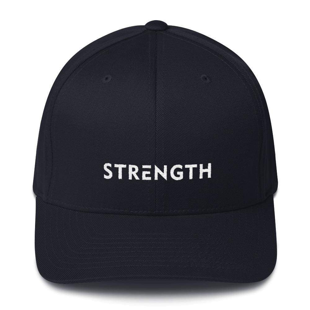 Load image into Gallery viewer, Strength Fitted Twill Flexfit Baseball Hat - S/m / Dark Navy - Hats