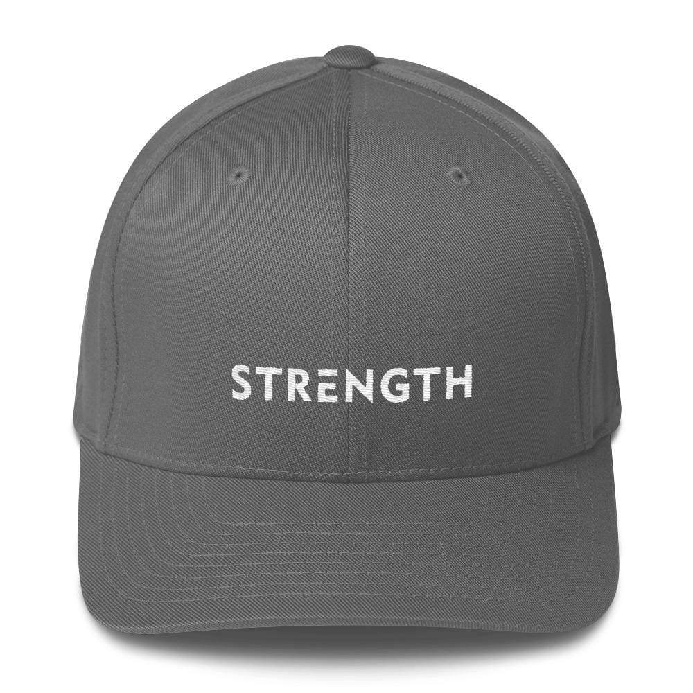 Strength Fitted Twill Flexfit Baseball Hat - S/m / Grey - Hats