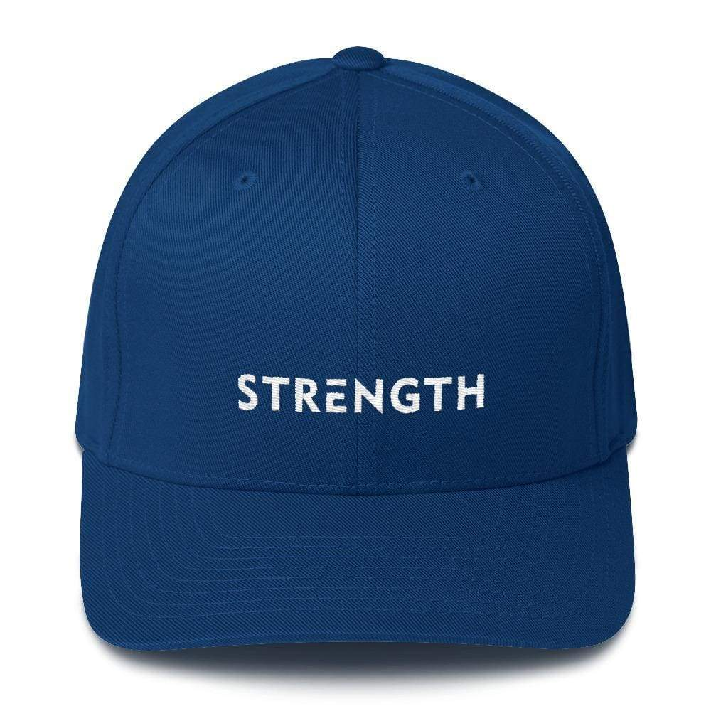 Load image into Gallery viewer, Strength Fitted Twill Flexfit Baseball Hat - S/m / Royal Blue - Hats