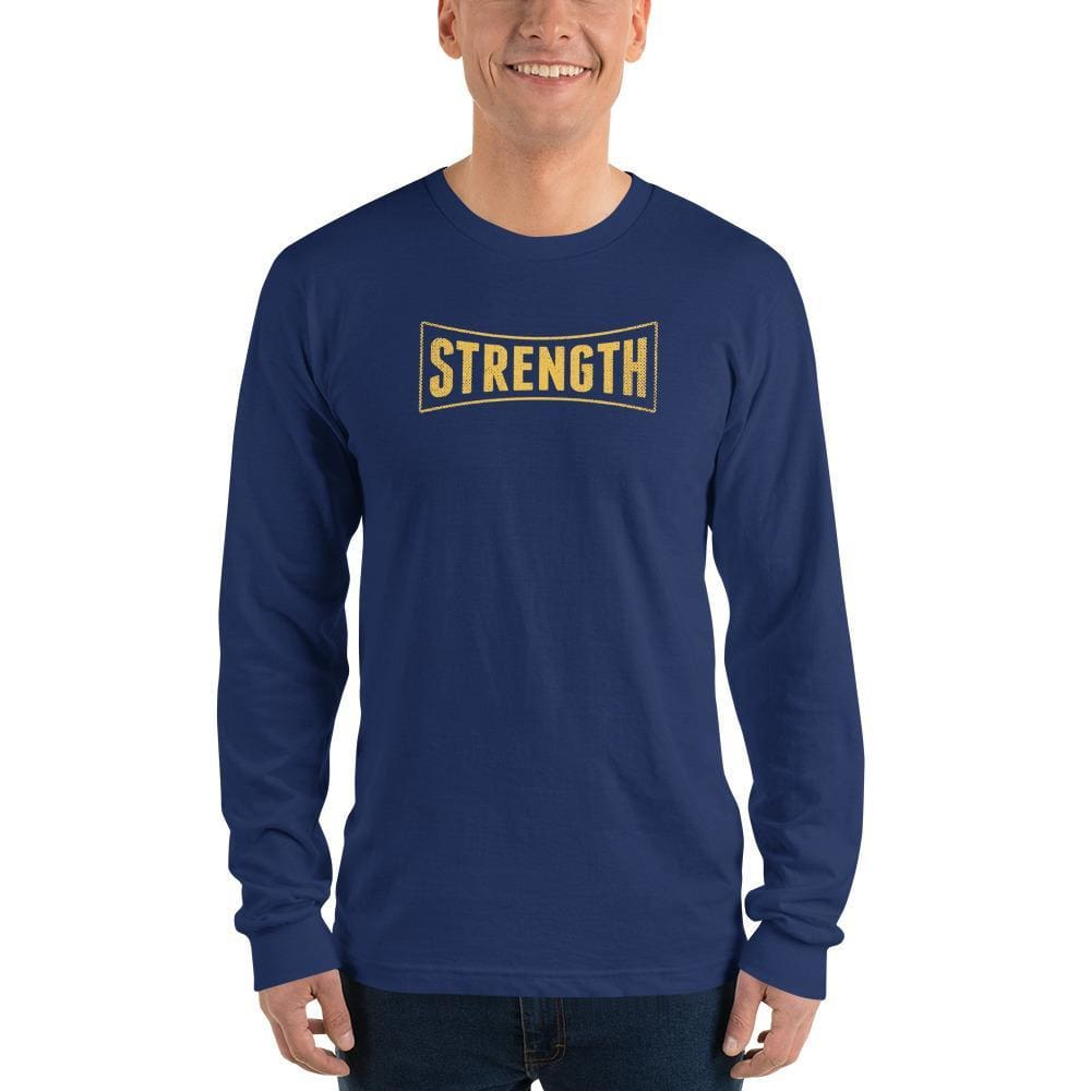 Strength Long Sleeve T-Shirt - S / Navy - T-Shirts