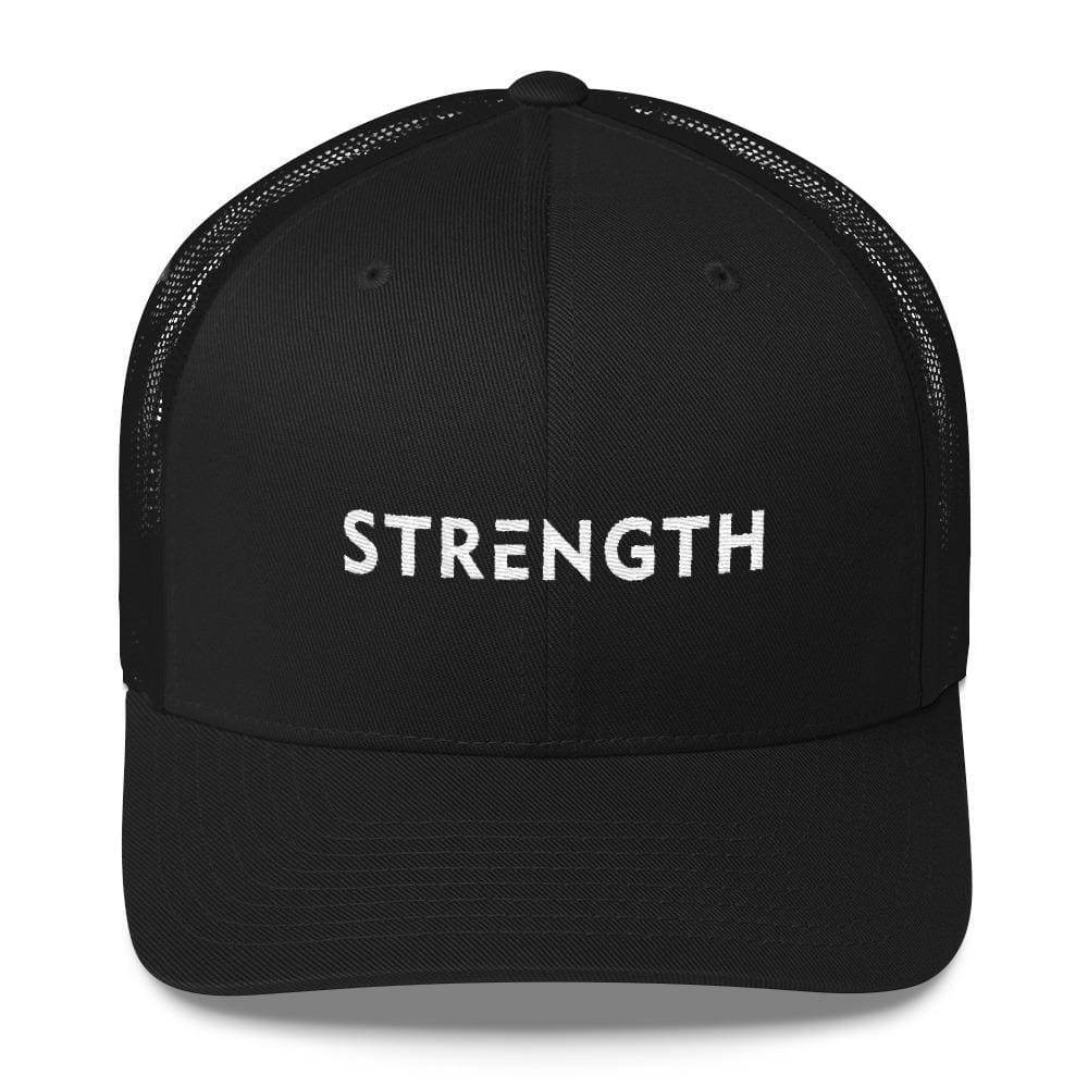 Load image into Gallery viewer, Strength Snapback Trucker Hat - One-size / Black - Hats