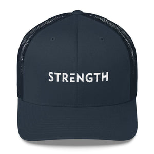 Strength Snapback Trucker Hat - One-size / Navy - Hats