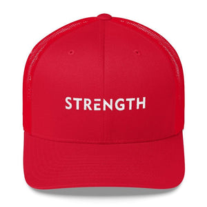 Strength Snapback Trucker Hat - One-size / Red - Hats
