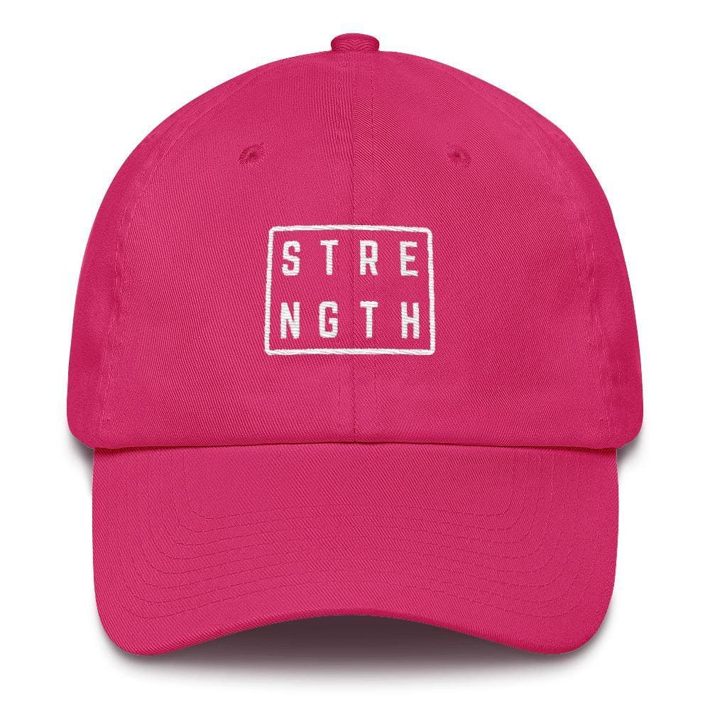 Strength Square Baseball Cap - One-size / Bright Pink - Hats