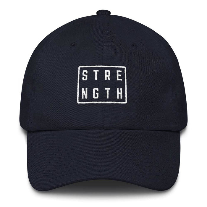 Strength Square Baseball Cap - One-size / Navy - Hats