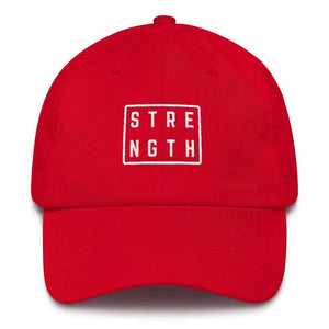 Strength Square Baseball Cap - One-size / Red - Hats