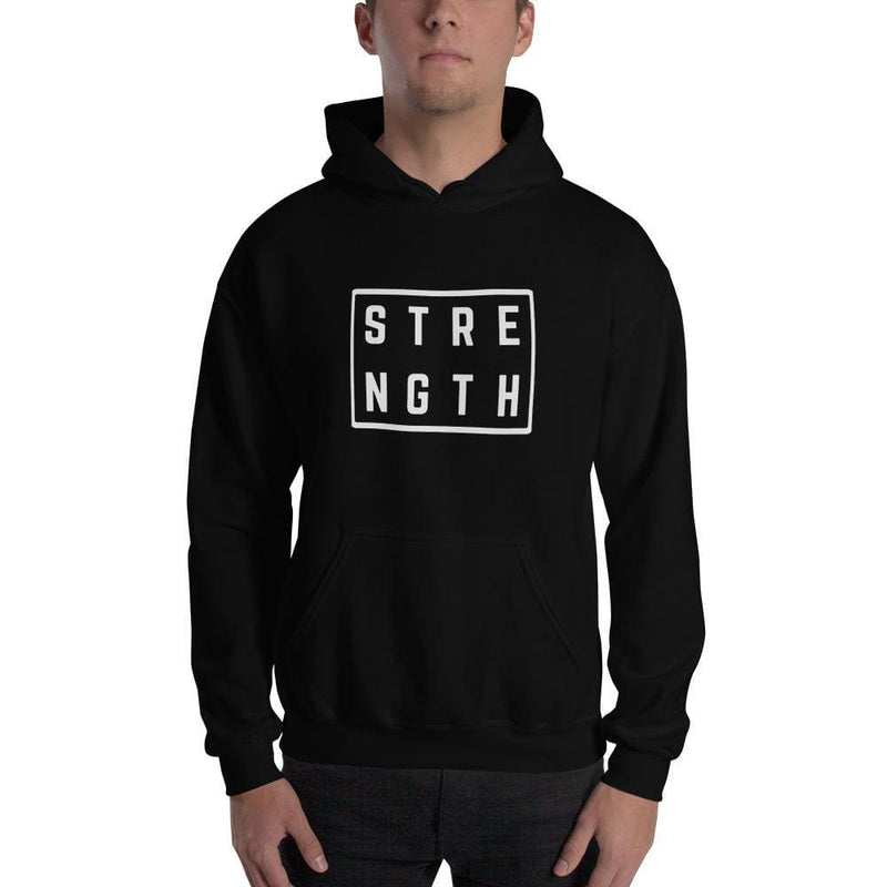 Strength Square Hoodie Sweatshirt - S / Black - Sweatshirts