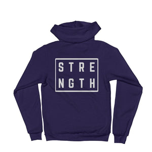 Load image into Gallery viewer, Strength Square Hoodie Sweatshirt - XS / Navy - Sweatshirts