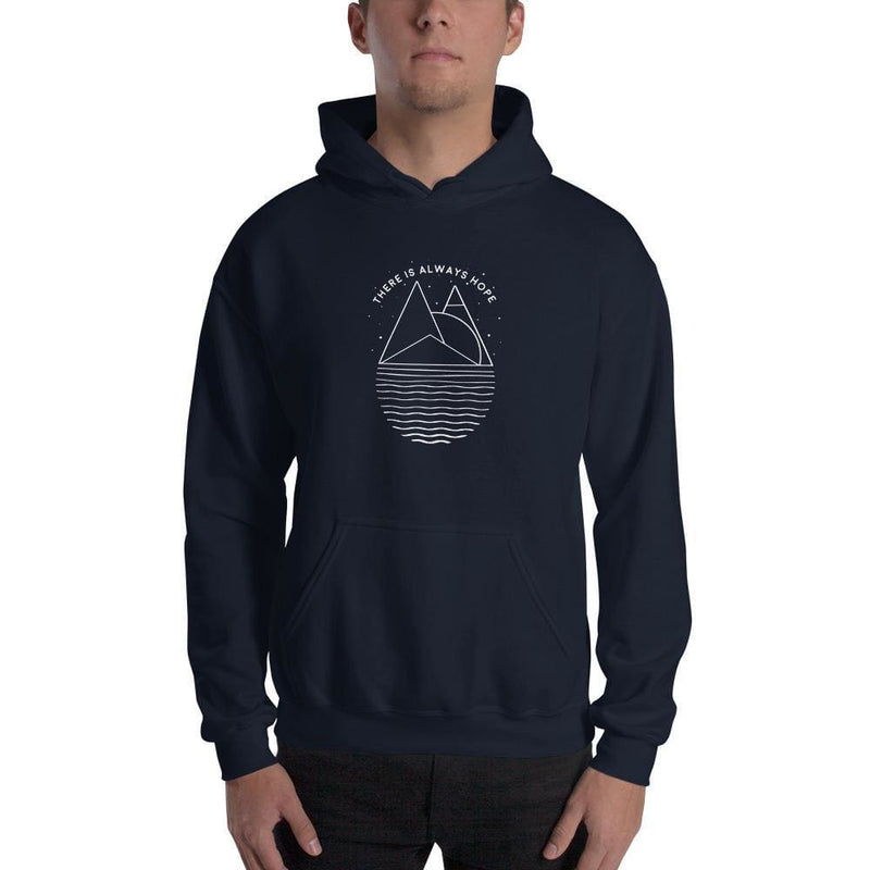There is Always Hope Hoodie Sweatshirt - S / Navy - Sweatshirts