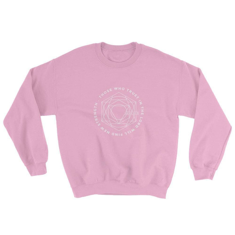 Those Who Trust in the Lord Will Find New Strength Christian Sweatshirt - S / Light Pink - Sweatshirts