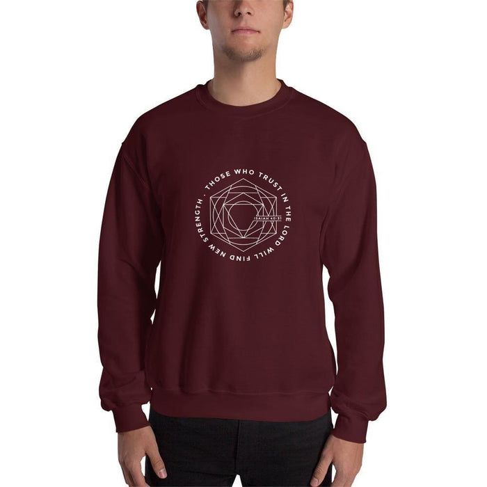Those Who Trust in the Lord Will Find New Strength Christian Sweatshirt - S / Maroon - Sweatshirts