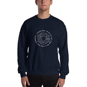 Those Who Trust in the Lord Will Find New Strength Christian Sweatshirt - S / Navy - Sweatshirts