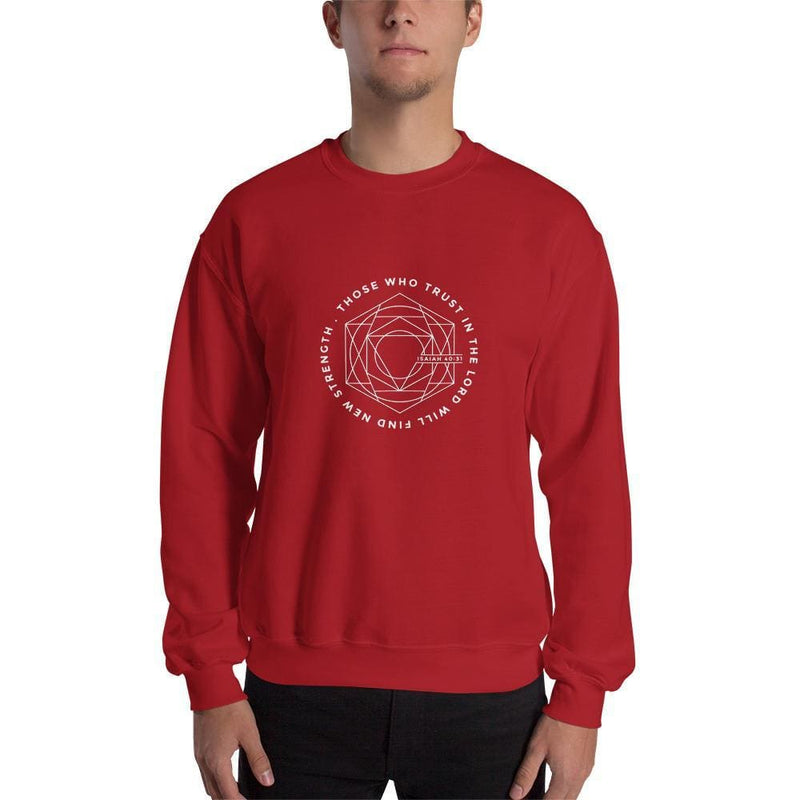 Those Who Trust in the Lord Will Find New Strength Christian Sweatshirt - S / Red - Sweatshirts