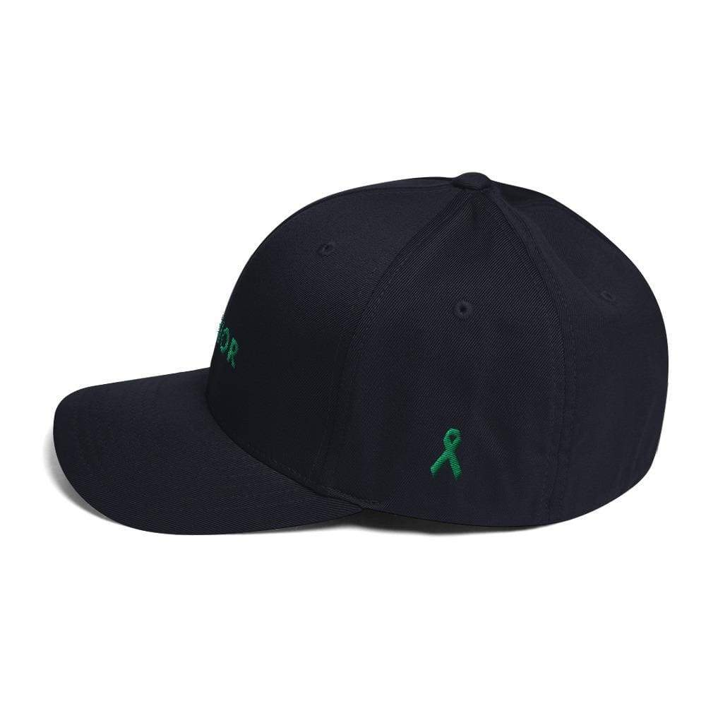 Warrior & Green Ribbon Fitted Twill Baseball Hat - Hats