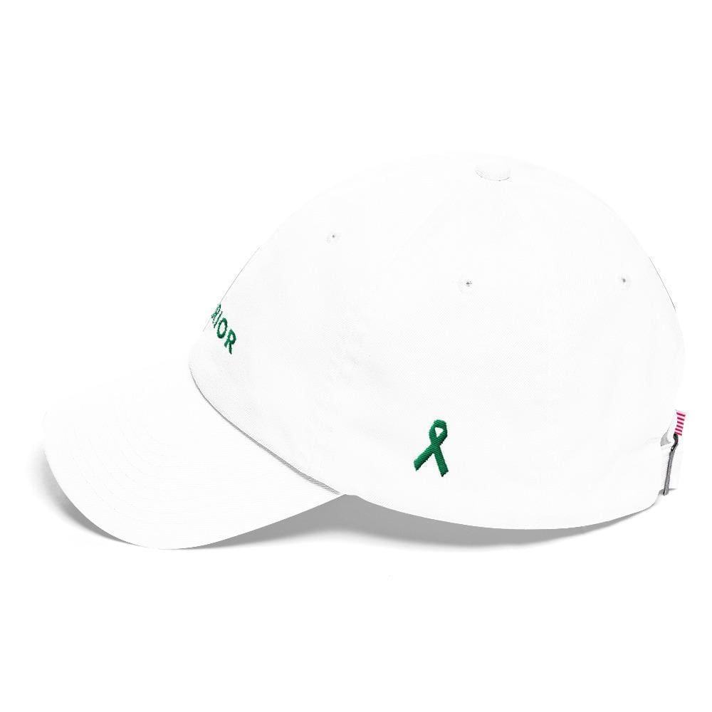 Warrior & Green Ribbon Liver Cancer Awareness Dad Hat - Hats