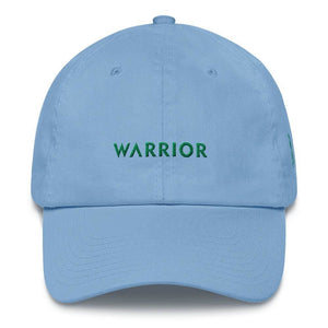 Load image into Gallery viewer, Warrior & Green Ribbon Liver Cancer Awareness Dad Hat - One-size / Carolina Blue - Hats