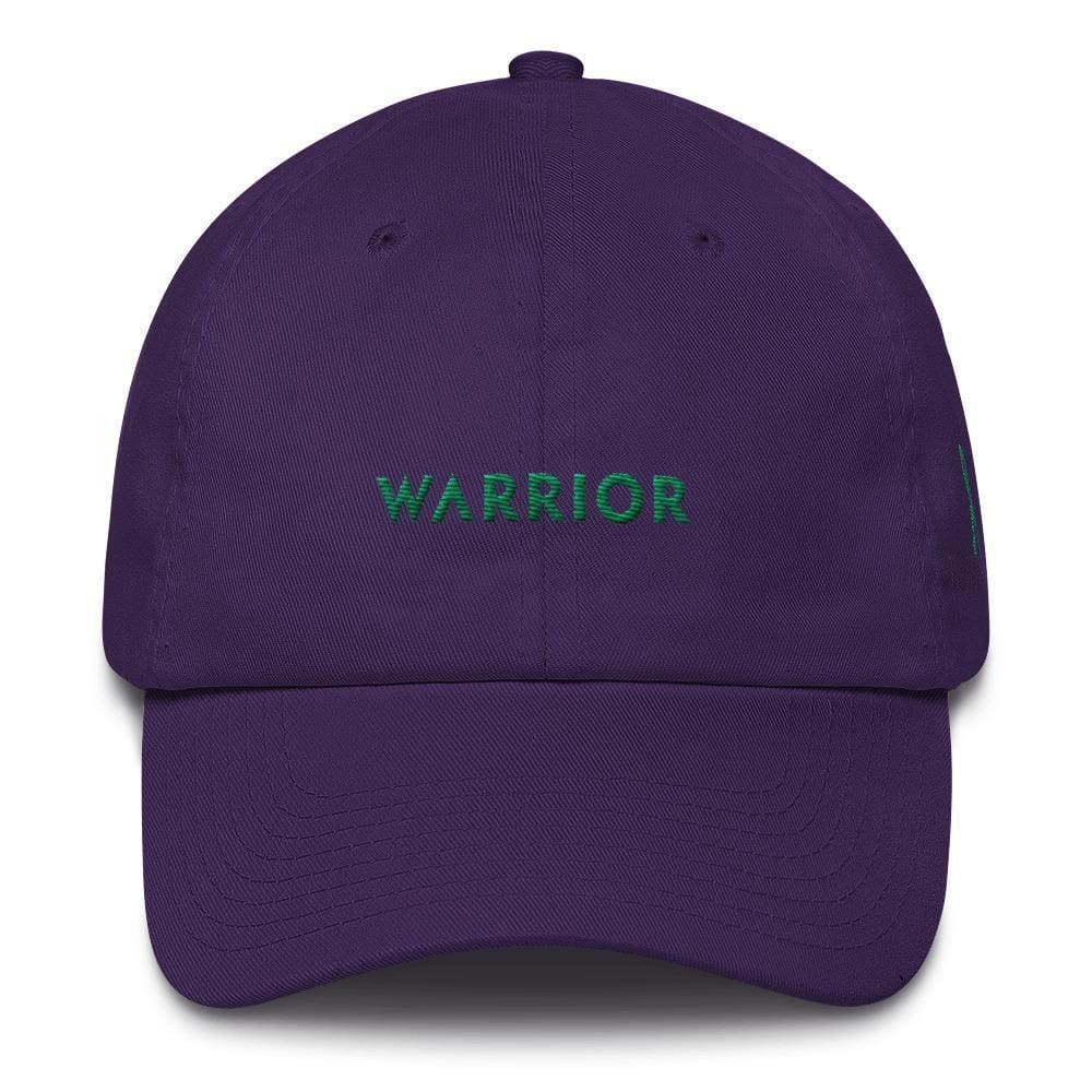 Warrior & Green Ribbon Liver Cancer Awareness Dad Hat - One-size / Purple - Hats