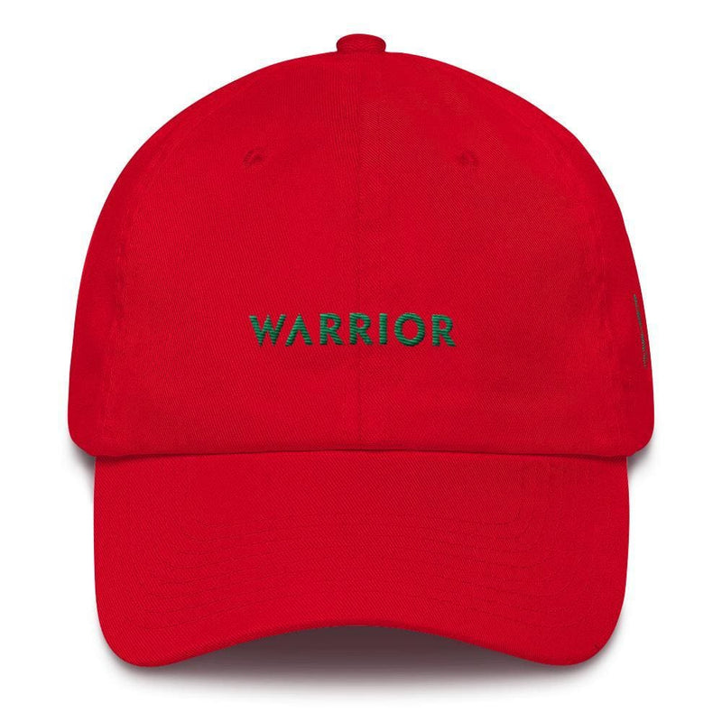 Warrior & Green Ribbon Liver Cancer Awareness Dad Hat - One-size / Red - Hats