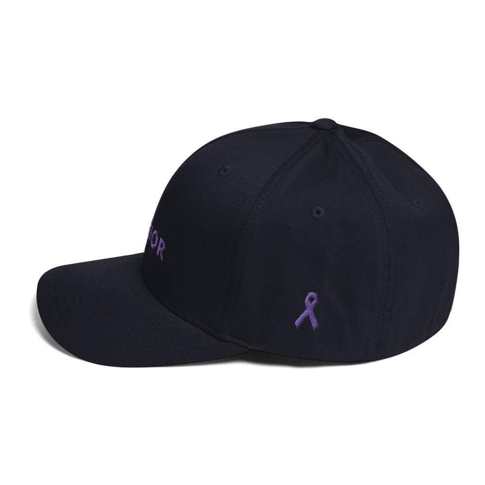 Load image into Gallery viewer, Warrior & Purple Ribbon Twill Flexfit Fitted Hat - Hats