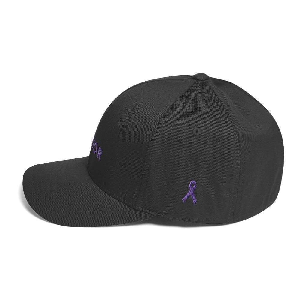 Warrior & Purple Ribbon Twill Flexfit Fitted Hat - Hats