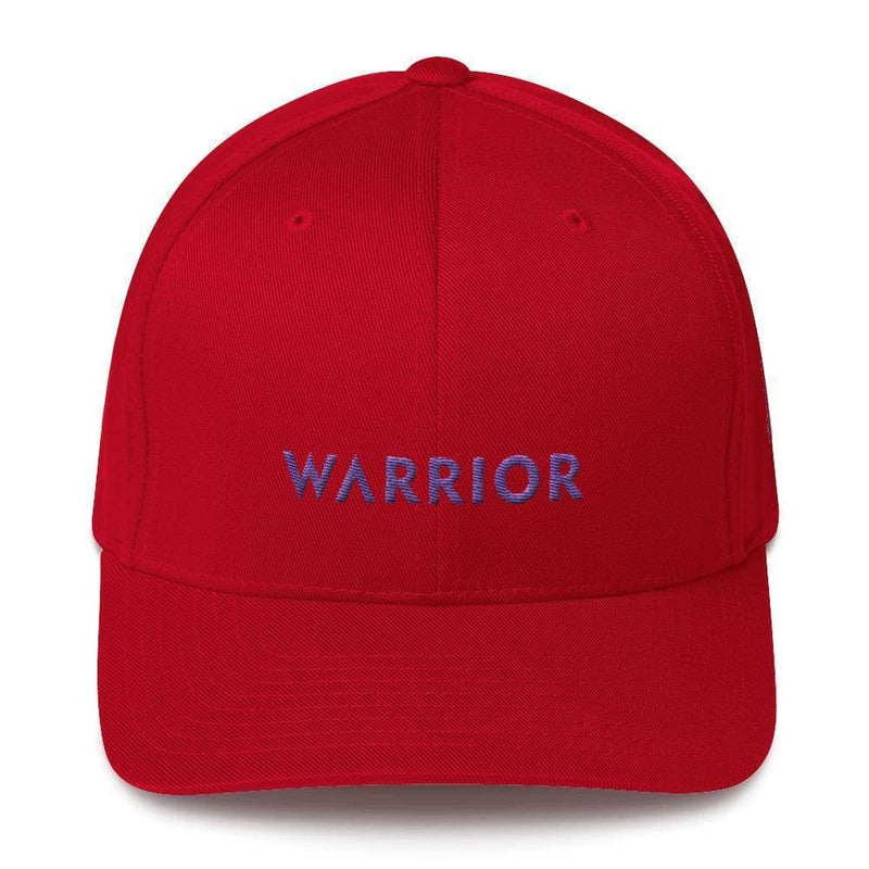 Warrior & Purple Ribbon Twill Flexfit Fitted Hat - S/m / Red - Hats