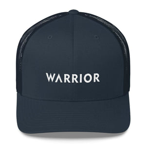 Load image into Gallery viewer, Warrior Snapback Trucker Hat - One-size / Navy - Hats