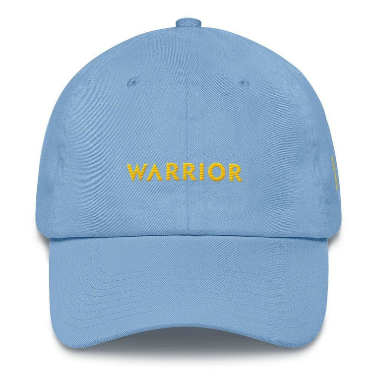 Warrior & Yellow Ribbon Awareness Dad Hat for Sarcoma, Suicide Prevention & Military Causes
