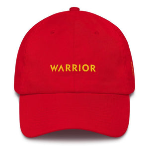Warrior & Yellow Ribbon Awareness Dad Hat for Sarcoma Suicide Prevention & Military Causes - One-size / Red - Hats