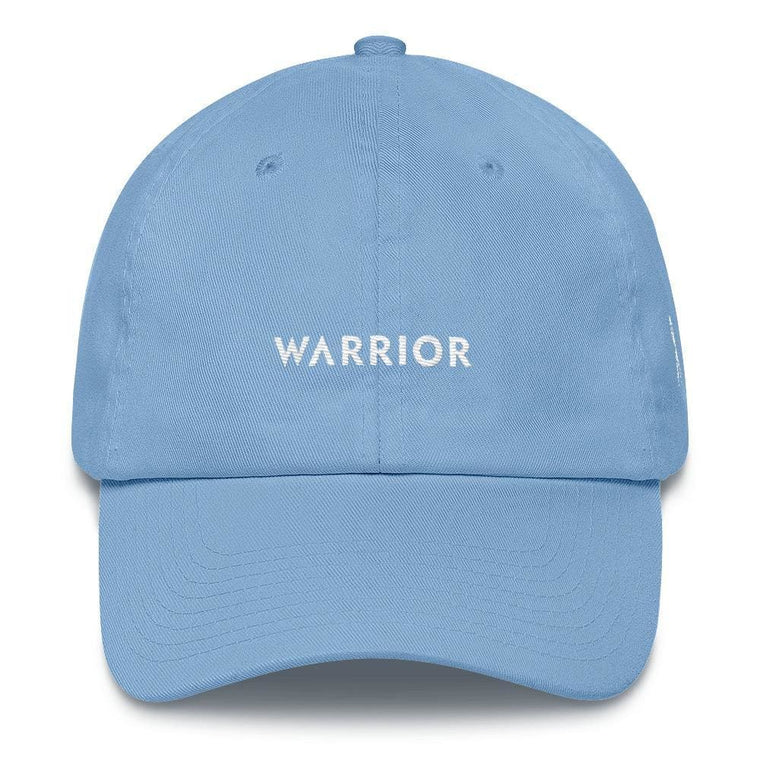 White Ribbon & Warrior Embroidered Dad Hat for Lung Cancer Awareness