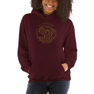 Womens Be Courageous Be Strong Stand Firm in the Faith Hooded Sweatshirt - S / Maroon - Sweatshirts