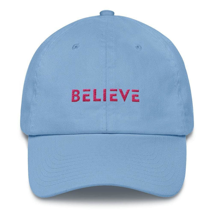 Womens Believe Dad Hat - One-size / Carolina Blue - Hats