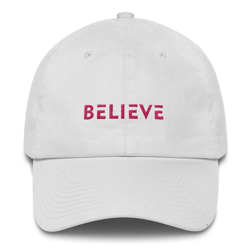 Womens Believe Dad Hat - One-size / White - Hats