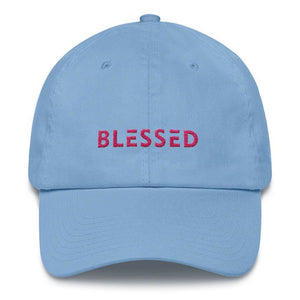 Load image into Gallery viewer, Womens Blessed Baseball Cap / Dad Hat - One-size / Carolina Blue - Hats