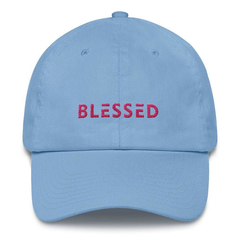 Womens Blessed Baseball Cap / Dad Hat - One-size / Carolina Blue - Hats
