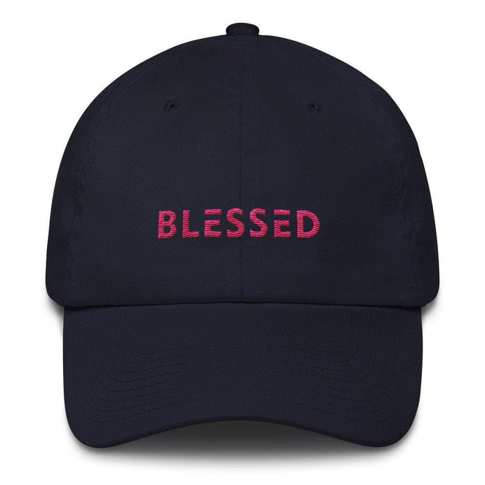 Womens Blessed Baseball Cap / Dad Hat - One-size / Navy - Hats