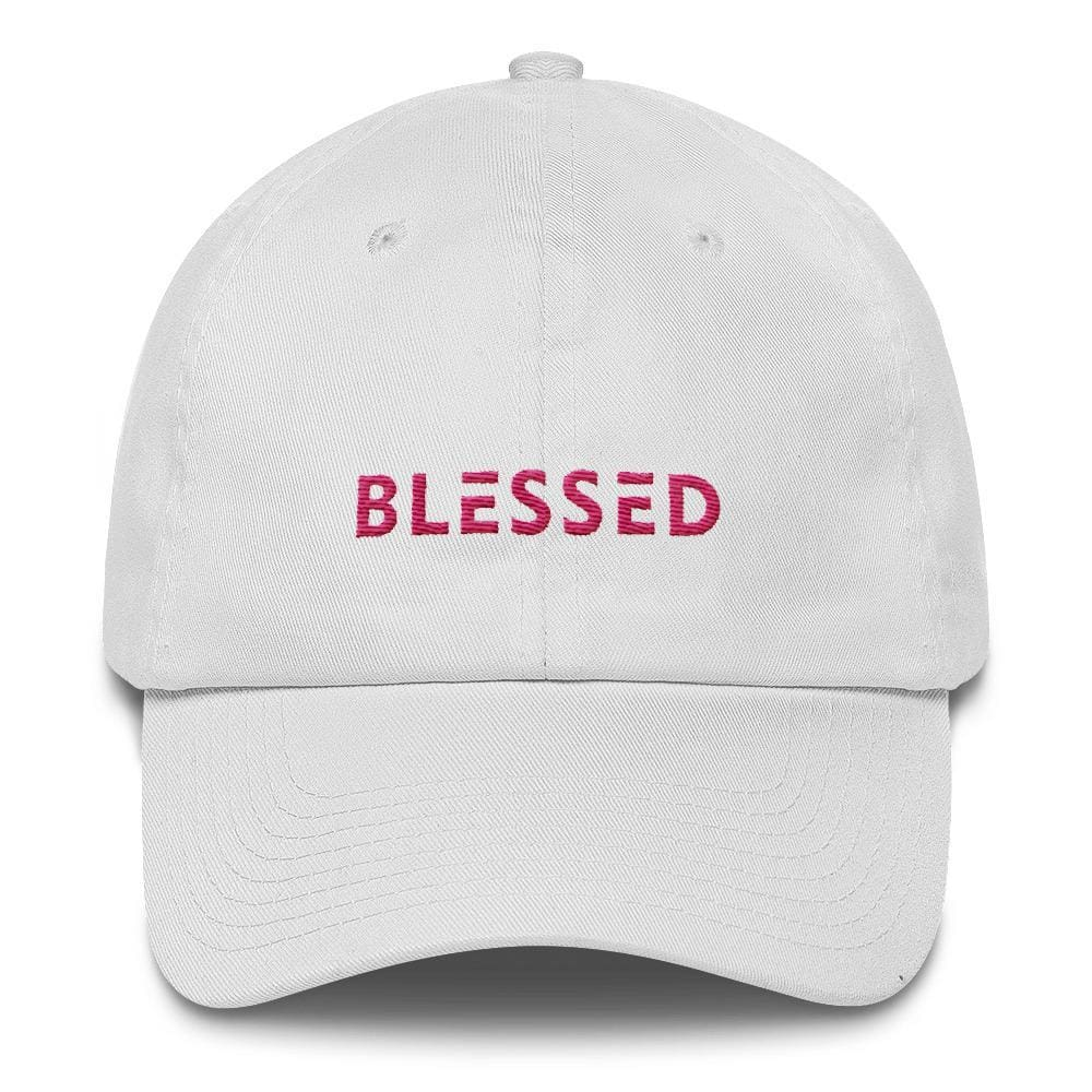 Womens Blessed Baseball Cap / Dad Hat - One-size / White - Hats