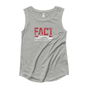 Womens FACT goods Awareness Ribbon Muscle Tank Top - S / Heather Grey - Tank Tops