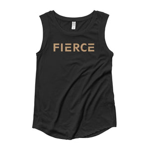 Womens Fierce Muscle Tank Top - S / Black - Tank Tops