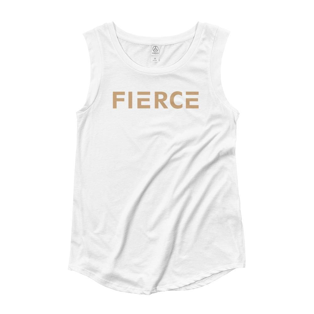 Womens Fierce Muscle Tank Top - S / White - Tank Tops