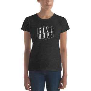 Womens Give Hope T-Shirt - S / Heather Dark Grey - T-Shirts