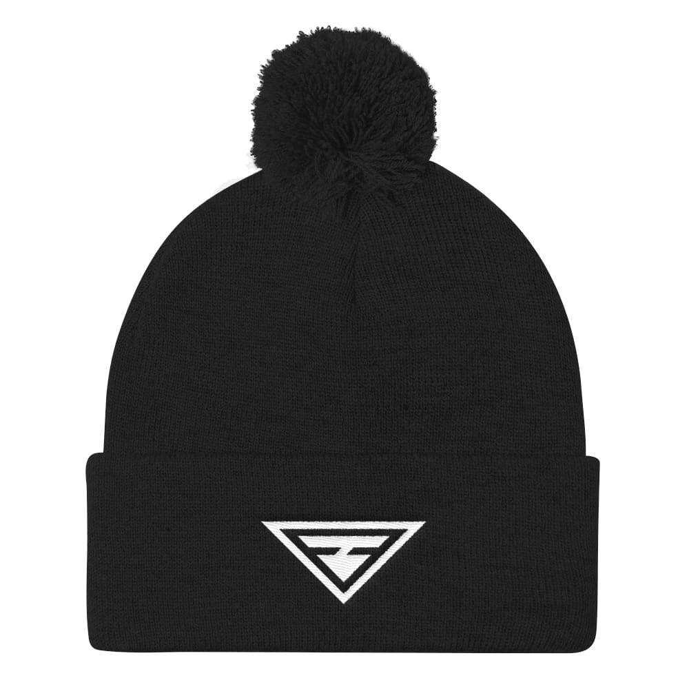 Load image into Gallery viewer, Womens Hero Pom Pom Knit Beanie - One-Size / Black - Hats