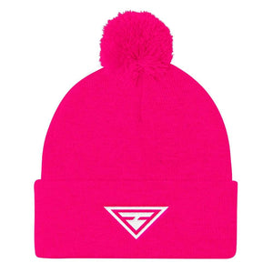 Load image into Gallery viewer, Womens Hero Pom Pom Knit Beanie - One-Size / Neon Pink - Hats