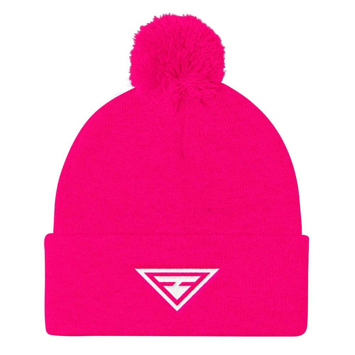 Womens Hero Pom Pom Knit Beanie - One-Size / Neon Pink - Hats