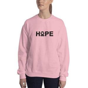 Load image into Gallery viewer, Womens Hope Crewneck Sweatshirt - S / Light Pink - Sweatshirts