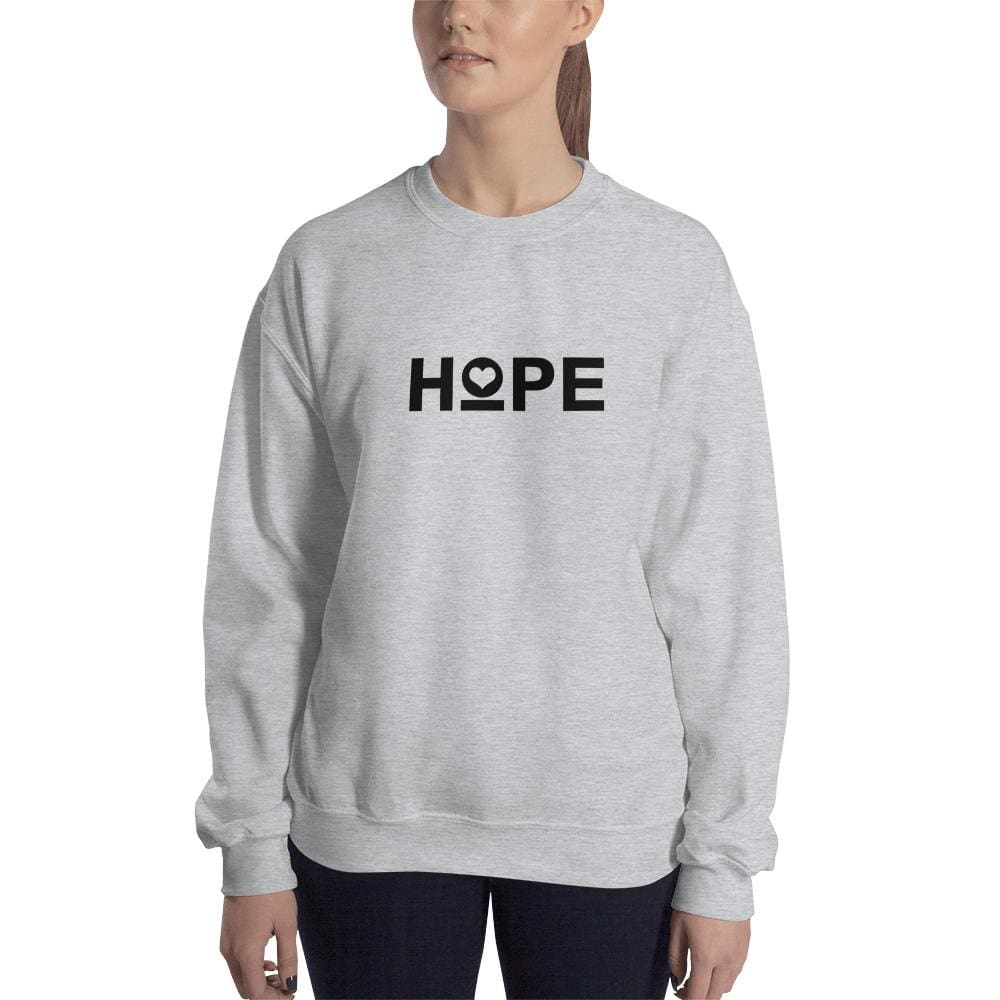 Load image into Gallery viewer, Womens Hope Crewneck Sweatshirt - S / Sport Grey - Sweatshirts