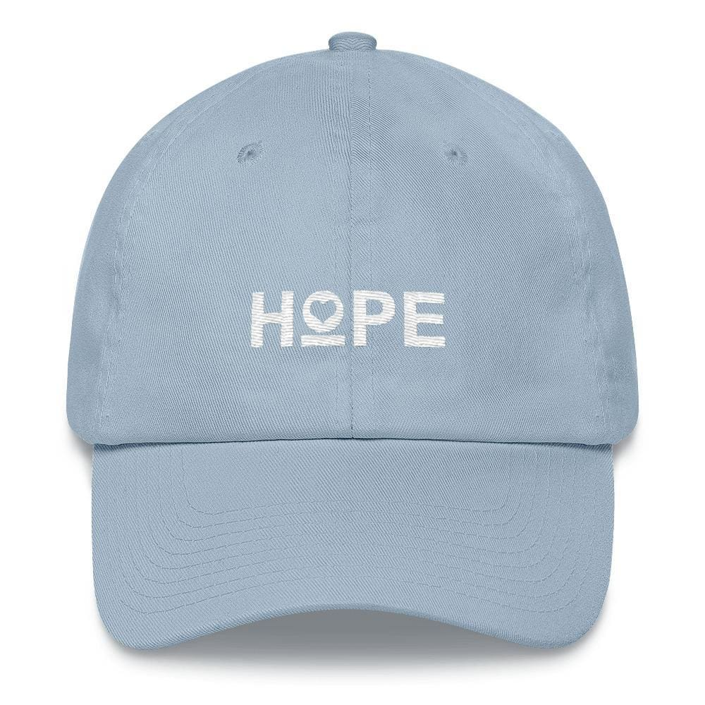 Womens Hope Heart Dad Hat - One-size / Light Blue - Hats