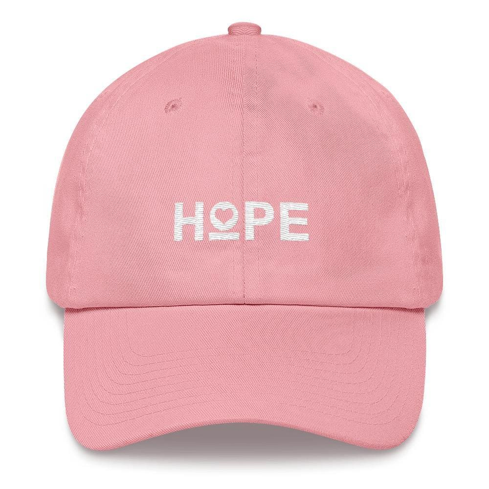 Womens Hope Heart Dad Hat - One-size / Pink - Hats