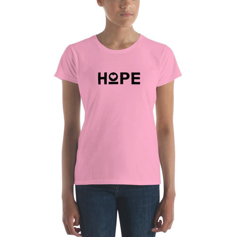 Womens Hope Heart T-Shirt - S / CharityPink - T-Shirts