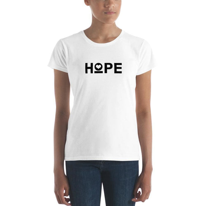 Womens Hope Heart T-Shirt - S / White - T-Shirts