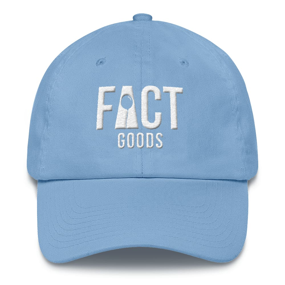 Womens Logo Cotton Adjustable Cap / Dad Hat - One-size / Carolina Blue - Hats